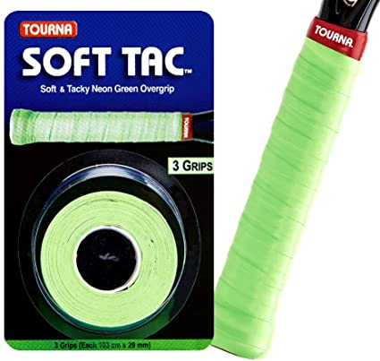 Tourna Soft Tac Overgrip Wrap, Neon Green