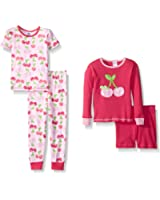 Gerber Baby and Little Girls' 4 Piece Cotton Pajama Set