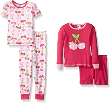 GERBER Girls 4-Piece Pajama Set