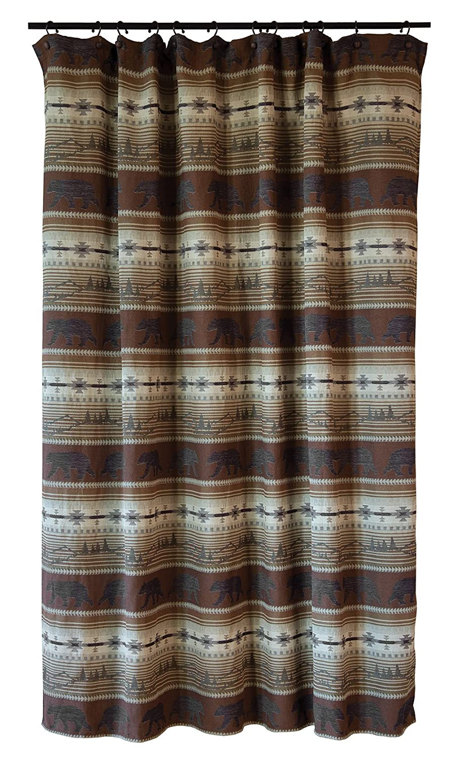 Carstens, Inc Rugged Earth Bear Collection Shower Curtain Brown Carstens Inc JB6803