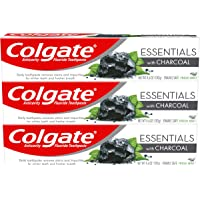 3-Pack Colgate Essentials with Charcoal Toothpaste 4.6 oz