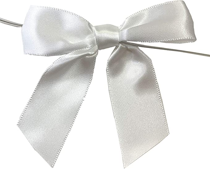 Satin Ribbon Bow with Pearl Weddings,Cake Decors,Crafts,Bows,Gift Wraps,D I Y Light Orchid 2 cm x 2 cm Packet of 10 and 25