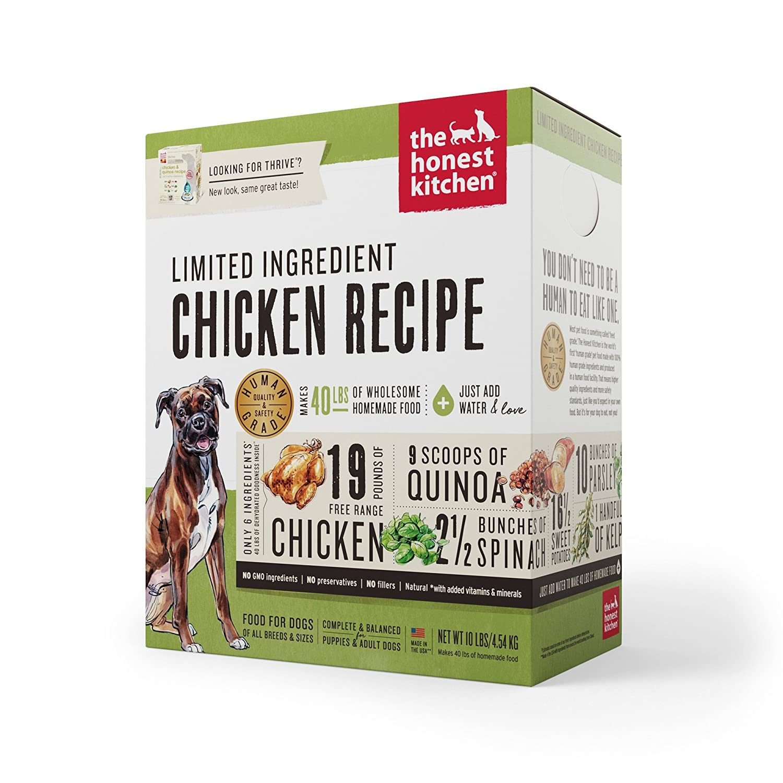 Honest Kitchen The Limited Ingredient Chicken Dog Food Recipe, 10 lb ...