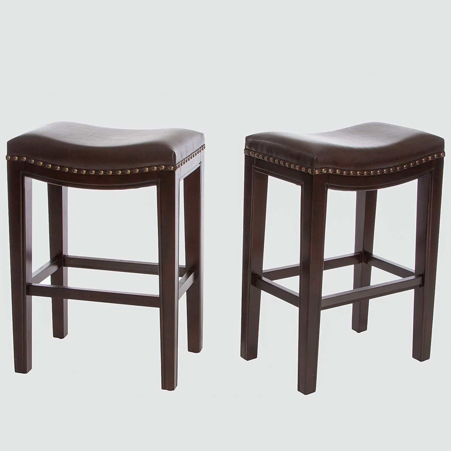 Best Selling Aster Backless Counter Stools, Brown, Set of 2
