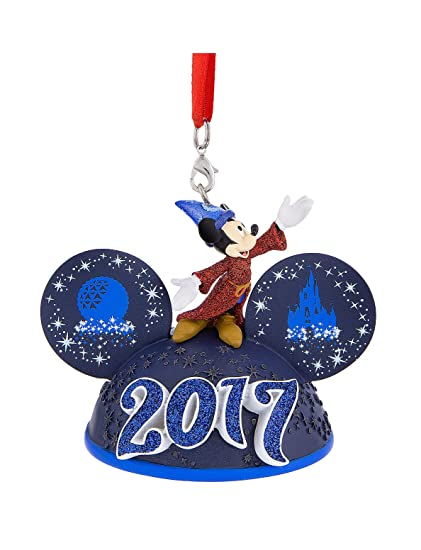 walt disney world parks icon sorcerer mickey mouse 2017 ears hat light up ornament - Disney Christmas Decorations 2017