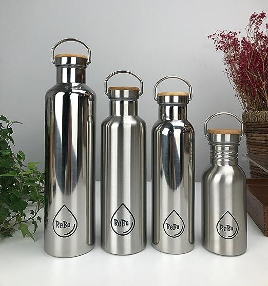 ReBo - Botella de agua reutilizable de acero inoxidable ...