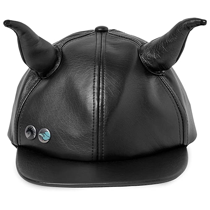 246b38ec778 Amazon.com  Disney Maleficent Faux Leather Horned Cap for Adults Black…   Clothing