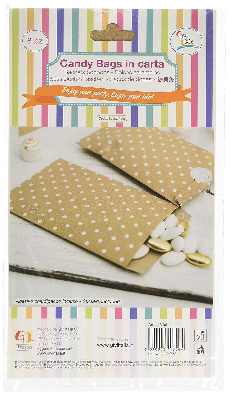 Amazon.com: Givi Italia 41306 8 Craft Paper Bags Hot Stamp ...