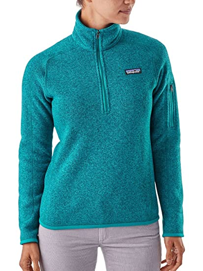 Amazoncom Patagonia Womens Better Sweater 14 Zip Fleece Clothing