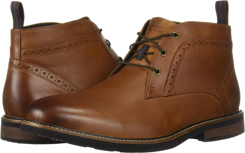 Nunn Bush Mens Ozark Plain Toe Chukka Boot with Kore Comfort Technology