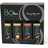 8Olivos Premium Flavor Extra Virgin Olive Oil Cold Press Award Winning, Gourmet Gift Set 4-PACK
