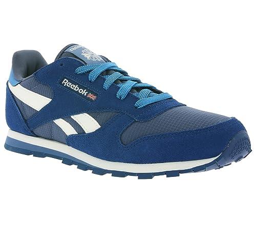 Reebok Classic Leather Champ niños zapatilla de deporte azul AR2033: Amazon.es: Zapatos y complementos