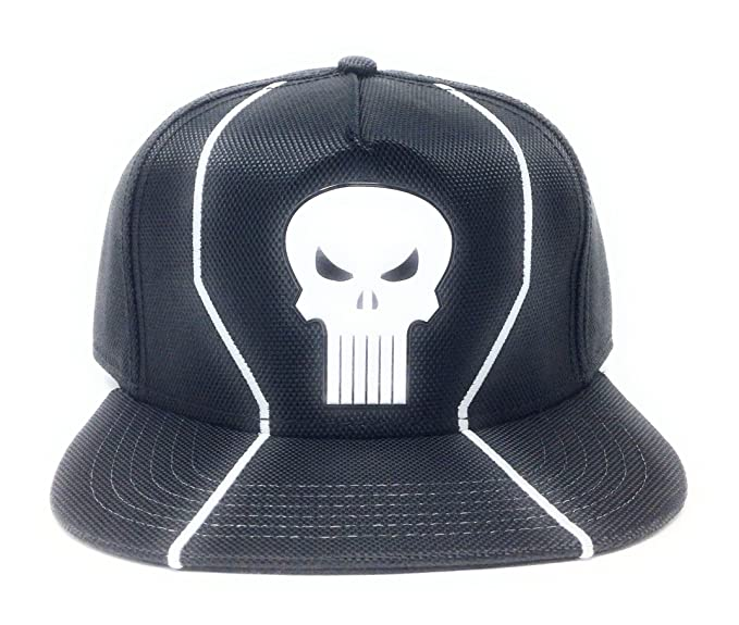 huge selection of 80605 45919 Image Unavailable. Image not available for. Color  Marvel Punisher Black    White Skull Snapback