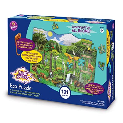 Mind Sparks Rainforest Eco-Puzzle 9354 Learning Game: Toys & Games