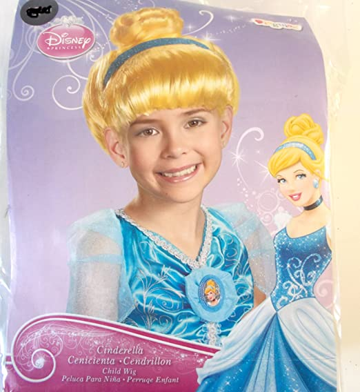 Disney Princess Cinderella Blue Headband Child Wig OSFM NIP
