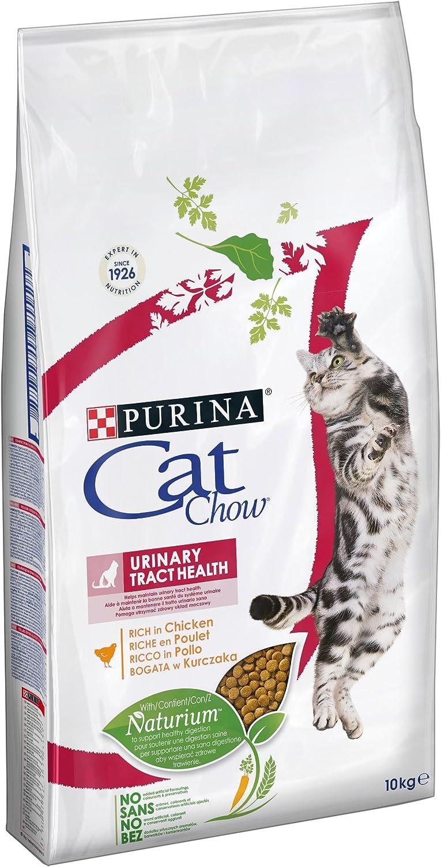CAT CHOW Urinary Tract Health Croquetas con Naturiumtm Rico en Pollo para Gato Adulto, 10 kg: Amazon.es: Productos para mascotas