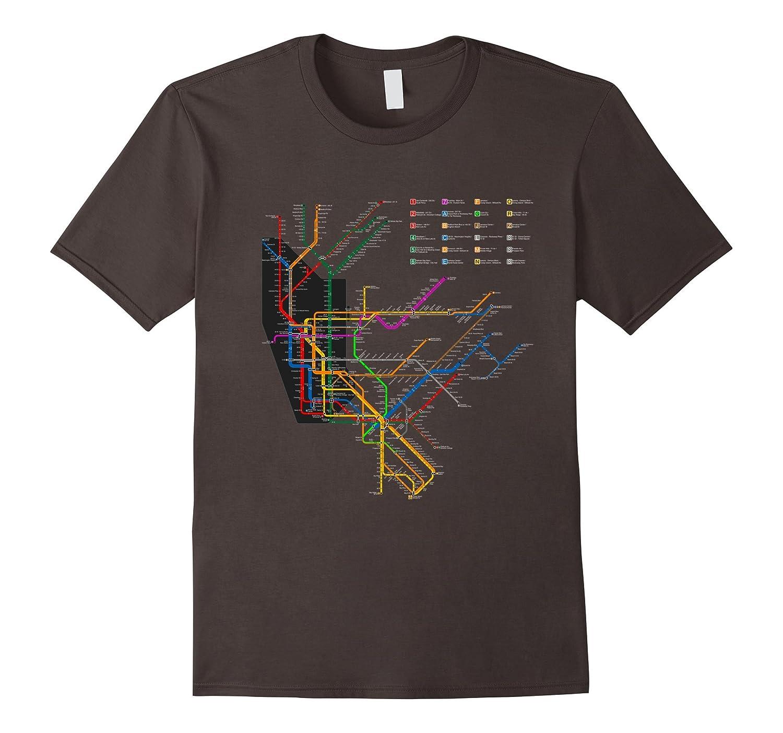 Nyc Subway Map Dark.Nyc Subway T Shirt New York City Line Metro Map 300ppi Bn