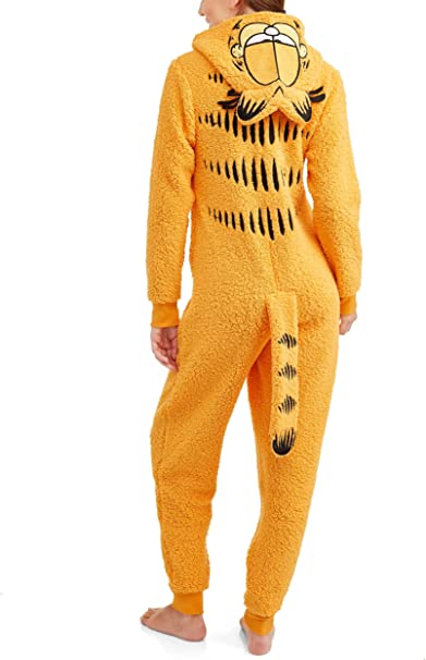 Amazon Com Garfield Women S Licensed Sleepwear Adult Costume Union Suit Pajama Xs 3x L Clothing