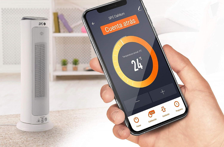 SPC Calidum - Calefactor Inteligente WiFi, Smart Home compatible con Amazon Alexa, Google Home: Amazon.es: Electrónica
