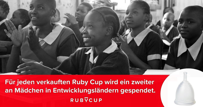 Copa menstrual de silicona de Ruby Cup