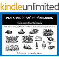 Pen & Ink Drawing Workbook vol 3: Learn to Draw Pleasing Pen & Ink Landscapes (English Edition)