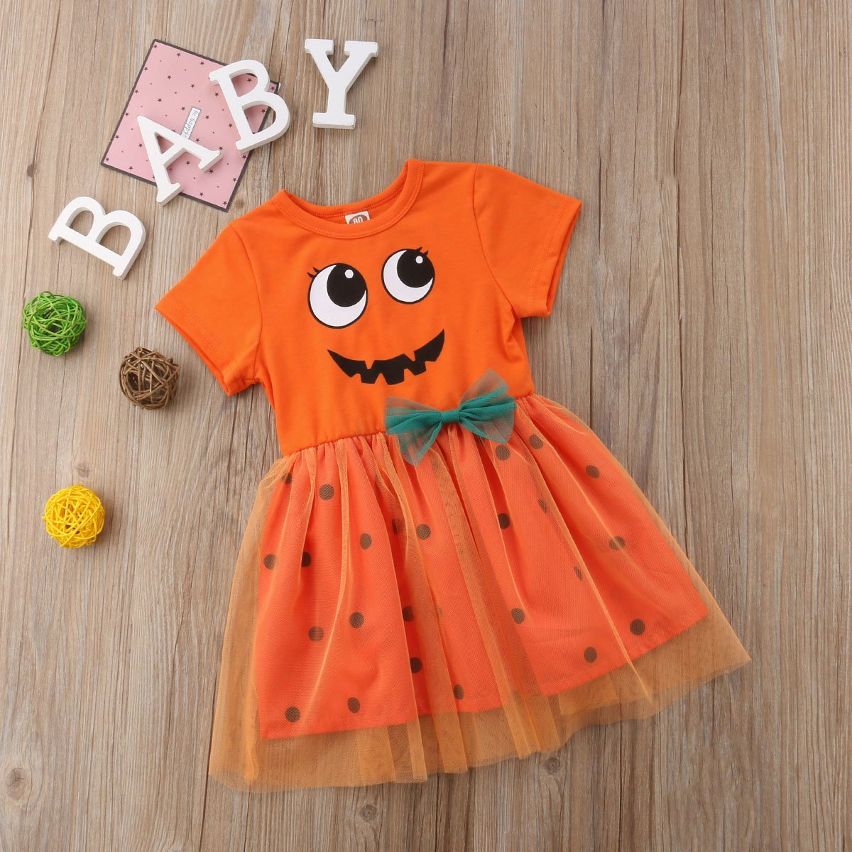 ITFABS Baby Girl Clothes Hallows Shirt Dress Lace Skirt Casual Dress