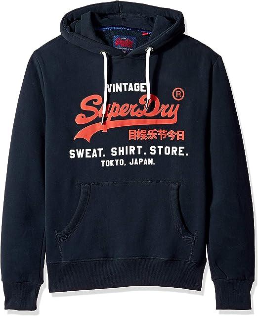 Superdry Herren Sweat Shirt Shop Duo Hoodie Kapuzenpulli