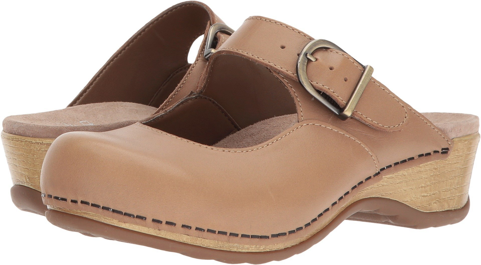 Dansko Women's Martina Mule, Sand Full Grain, 38 M EU (7.5-8 US)
