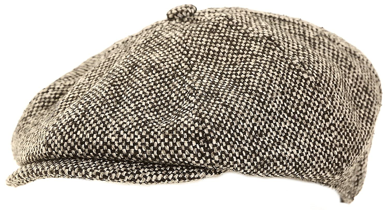 57d9c8c5588fd Mens Black and Grey Baker Boy Cap  Amazon.co.uk  Clothing