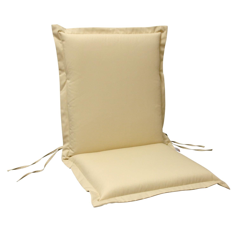 indoba® IND-70451-AUNL-6 - Serie Premium - Gartenstuhl Auflage - Niedriglehner, extra dick, Beige - 6 Stück