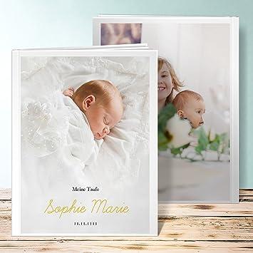 Sendmoments Fotoalbum Taufe Personalisiert Einfach Simple