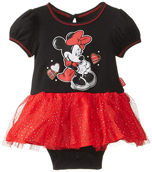 7c7b41e7136 Disney Baby Baby-Girls Newborn Minnie Mouse Dress with Tulle, Black, 0-