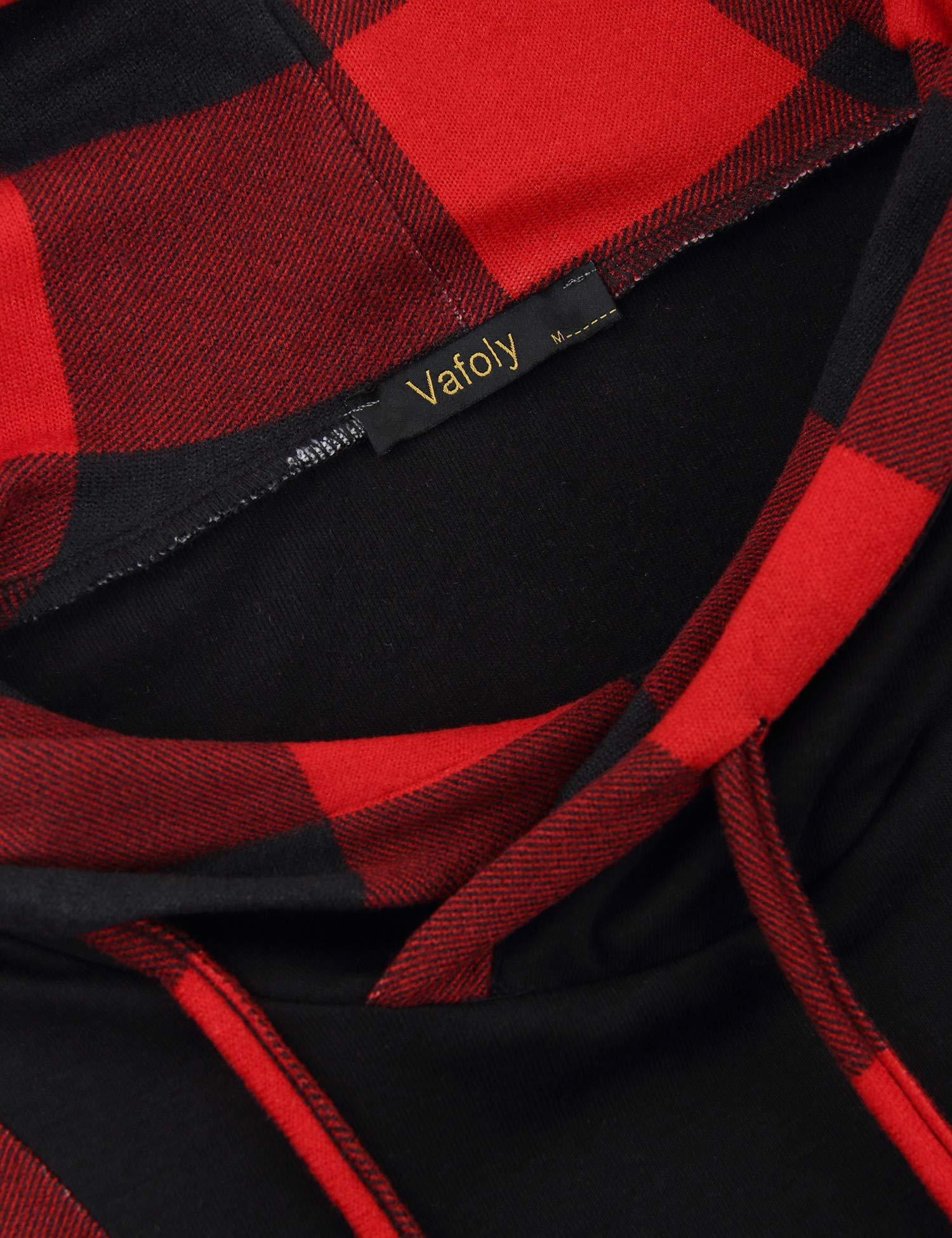 Vafoly Damen Sweatshirt, Winterpulli Wintermantel Übergangsjacke Lässig Langarm Blouson Jacke RollkragenFahsion Schmetterling für Frühling, Herbst,Winter(Rot-schwarz,M)