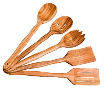 Wooden Cute Kitchen Utensils Set 14u0026quot;/35 Cm. Cherry