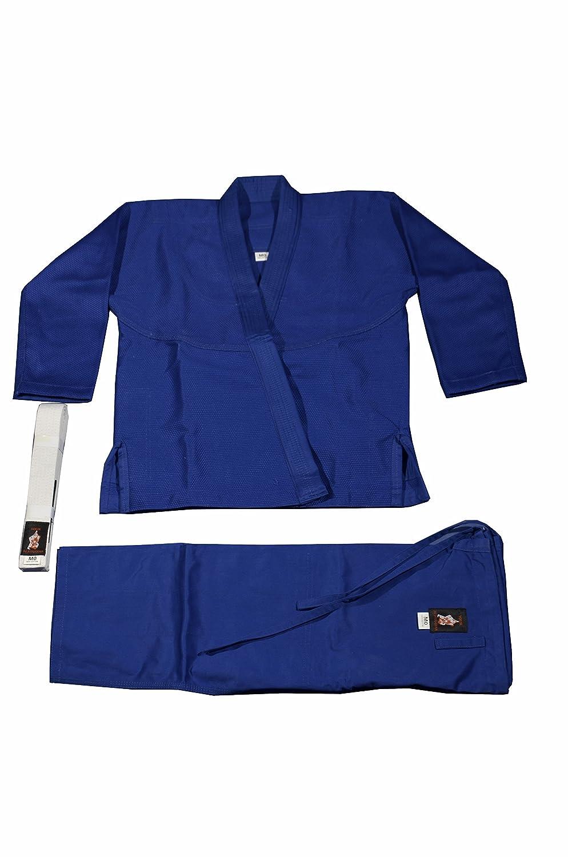 Your Jiu Jitsu柔術Gear Kids Uniform with BJJホワイトベルト B00LPM92TM ブルー M0 3'8'' 4'2'' from 50 lbs up to 63 lbs