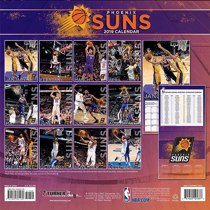 Amazon.com: Turner 1 Sport Phoenix Suns 2019 12X12 ...