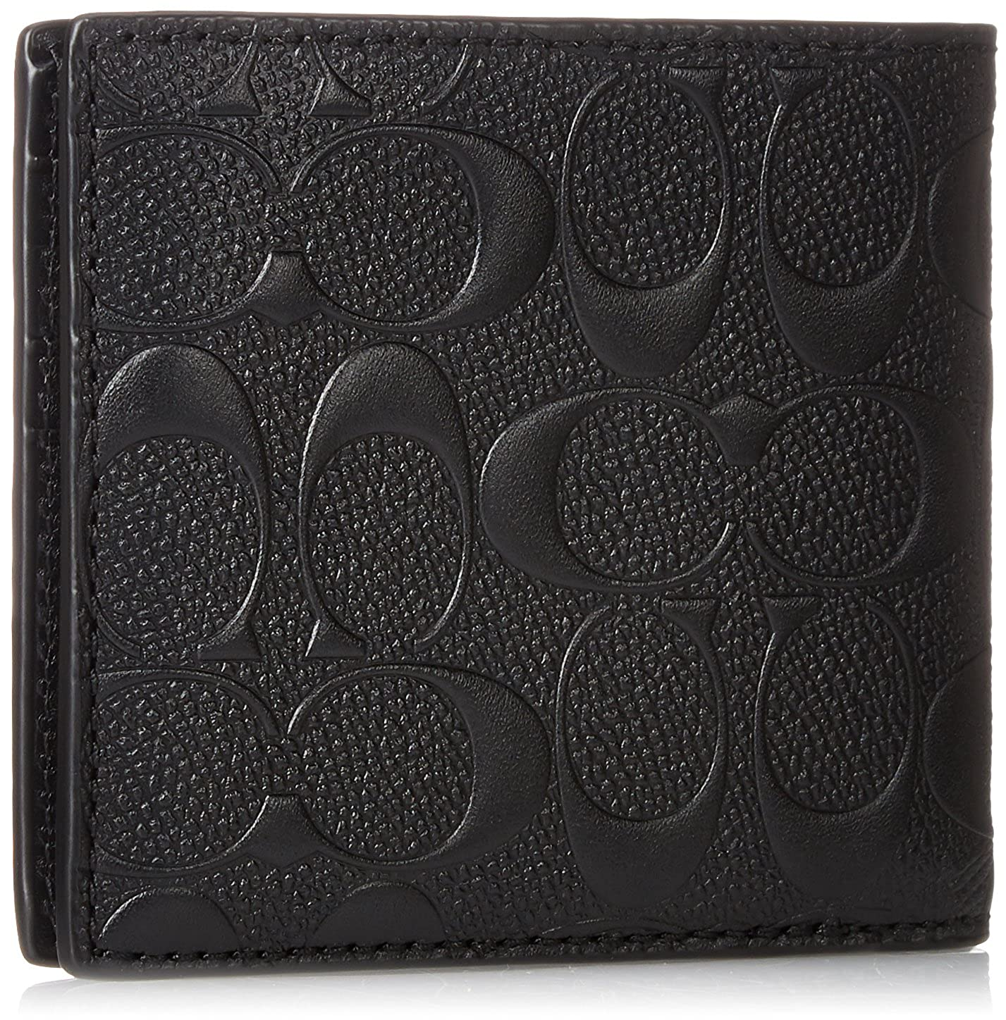 9ec9aad8a1797 Amazon.com  COACH COMPACT ID WALLET IN SIGNATURE CROSSGRAIN LEATHER ...