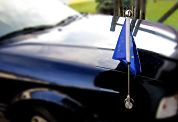 Car Flag Pole Diplomat Bayonet Garden Outdoor
