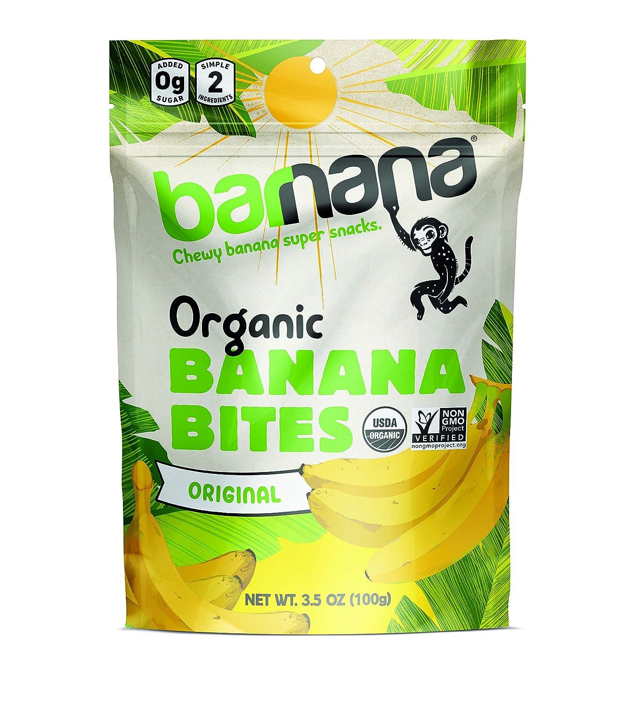 Barnana Organic Chewy Banana Bites - Original - 3.5 Ounce, 12 Pack Bites - Delicious Potassium Rich Banana Snacks - Lunch Dinner Sports Hiking Natural Snack - Whole 30, Paleo, Vegan