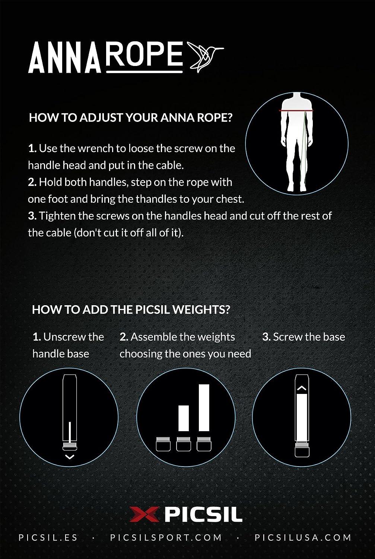 Cuerda de Saltar,comba para Crossfit PicSil Anna Rope Boxeo Color Lima Fitness MMA