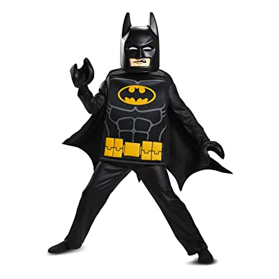 Disguise Batman Lego Movie Deluxe Costume, Black, Small (4-6): Disguise: Toys & Games