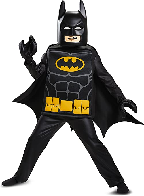 Disguise Batman Lego Movie Deluxe Costume, Black, Small (4-6)