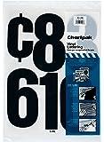 Chartpak Self-Adhesive Vinyl Numbers, 6 Inches High, Black, 21 per Pack (01198)