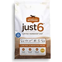Rachael Ray Nutrish Just 6 Natural Dry Dog Food, Limited Ingredient, Lamb Meal & Rice, 28 Lbs