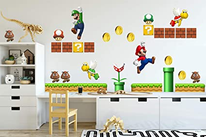 SUPER MARIO photo paper WALL STICKER WALL DECAL