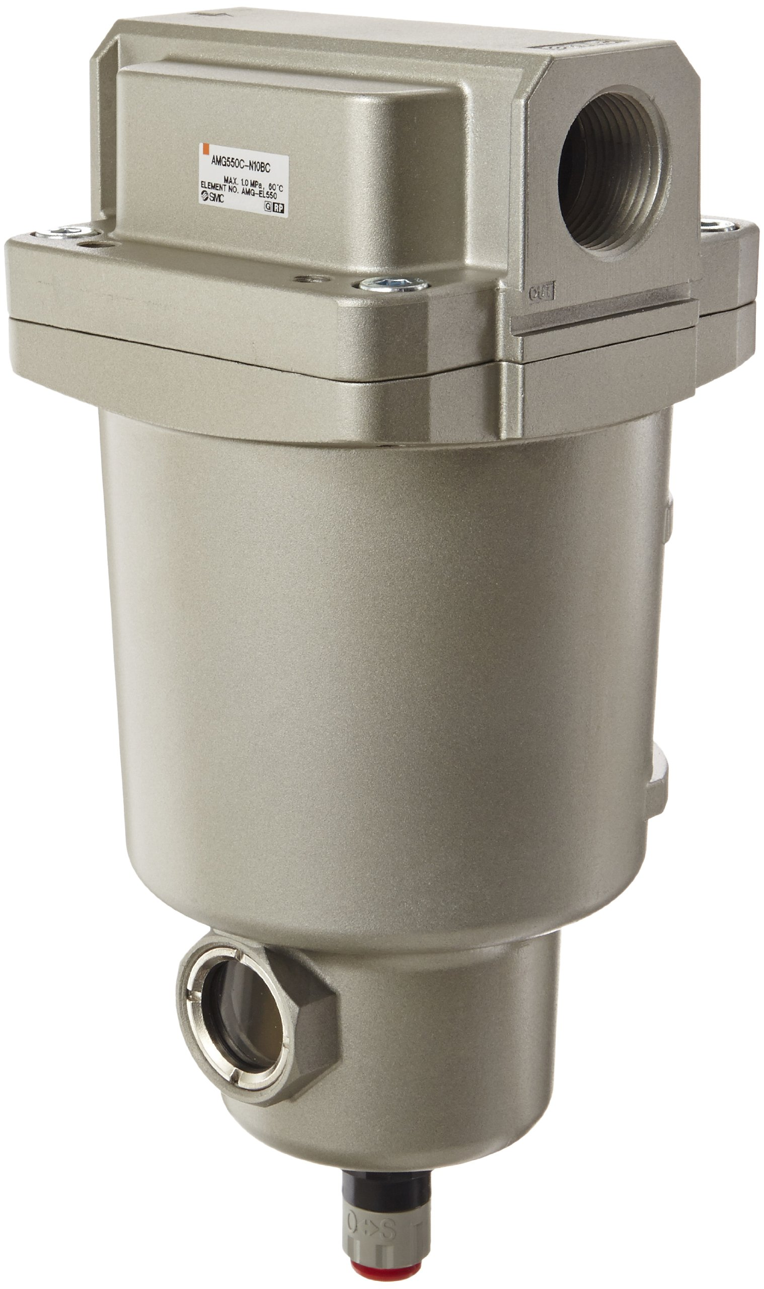 SMC AMG550C-N10BC Water Separator, N.C. Auto Drain, 3,700 L/min, 1'' NPT, Mounting Bracket by SMC