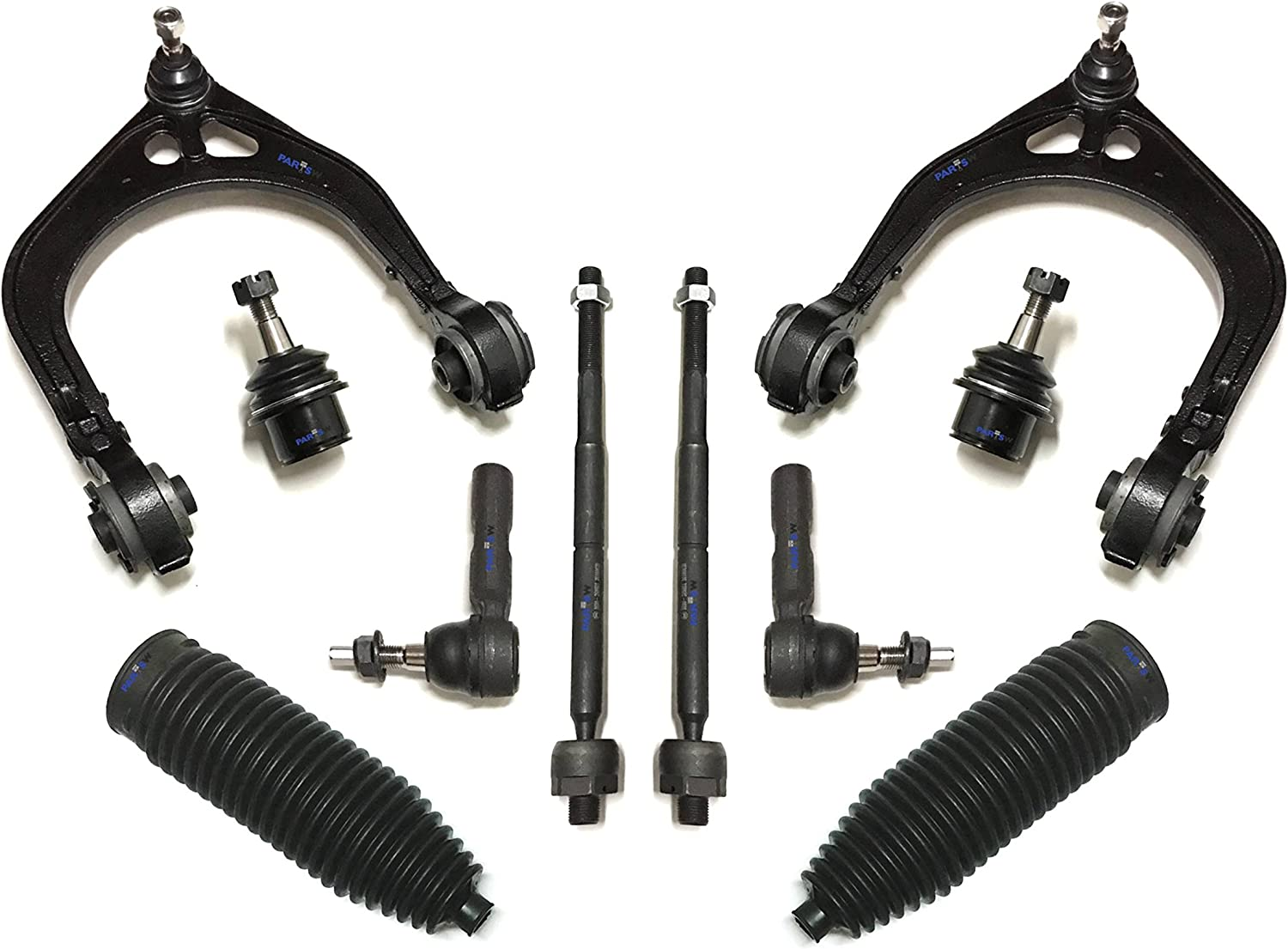 Adjustable PartsW 10 Pc Suspension Kit For Chrysler 300 Dodge Charger Challenger /& Magnum Front Lower /& Upper Control Arm Sway Bar Link Lower Ball Joints