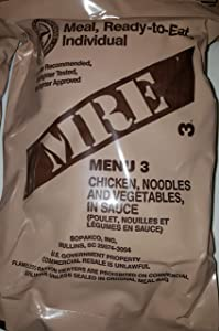 2021 Genuine Military MRE Meals Ready to Eat with Inspection Date 2021 or Newer (Chicken Noodle)