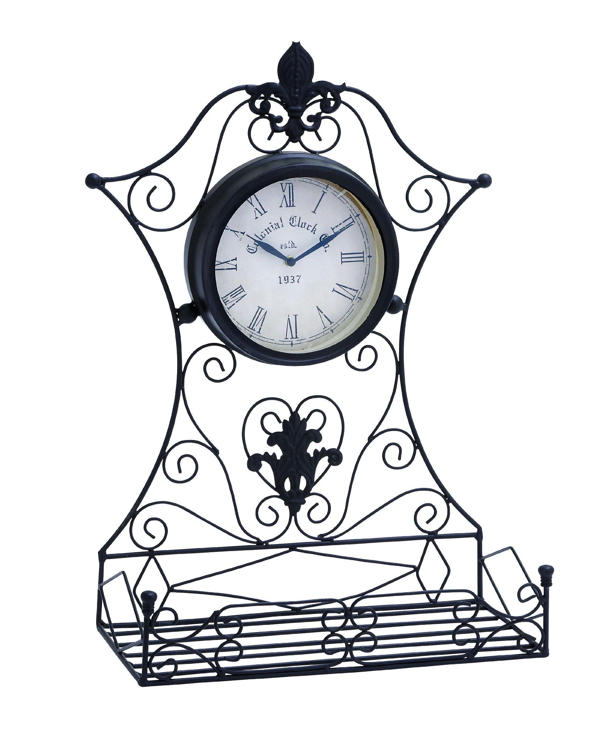 Deco 79 35422 Metal Outdoor Clock, 16 by 23-Inch