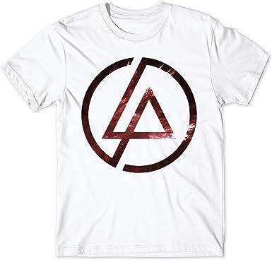 LaMAGLIERIA Camiseta Hombre Linkin Park - Camiseta Rock Band Space Logo 100% algodón: Amazon.es: Ropa y accesorios